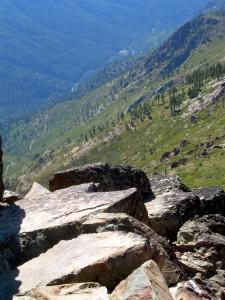 View near Pacific Crest Trail near Sierra City